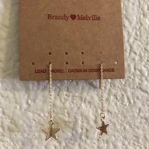 🌟NEW Brandy Melville Gold Star Drop Earrings